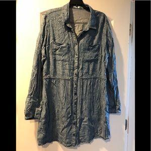 Maurice's Denim Shirt Dress XL